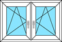 2 Flügel Dreh-Kipp links und rechts, horizontal