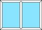 2-teilige Festverglasung, horizontal
