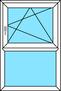 2-teiliges Fenster Dreh-Kipp rechts und Festverglasung, vertikal